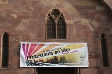 &quot;Protestants celebrate&quot;: banner
